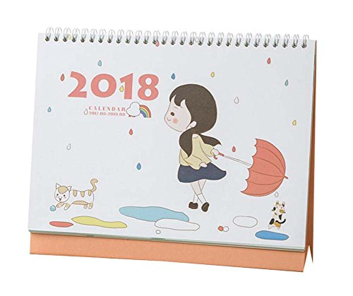 2017 2018 Cute Little Girl Calendar Creative Calendar  Orange