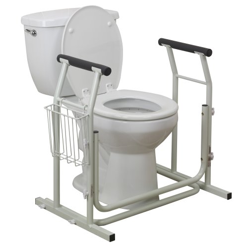 Drive Medical Stand Alone Toilet Safety Rail White Buy