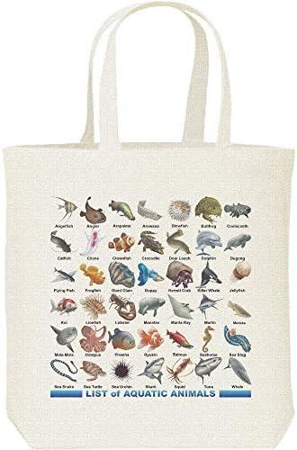 エムワイディエス(MYDS) 魚類&水棲生物のリスト/キャンバス M トートバッグ