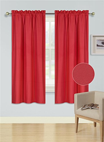 Midwest Window Treatment Collection 1PC Solid Foam Lined Bla