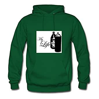 Green Cool Chic My Life Hoodies X-large Women Customized