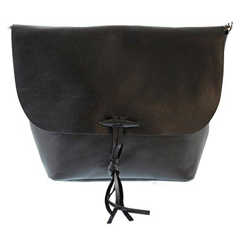 CTM Frau umhängetasche, Italienisches Echtes Weiches Leder Made in Italy 32x24.5x4 cm Chicca Tutto Moda