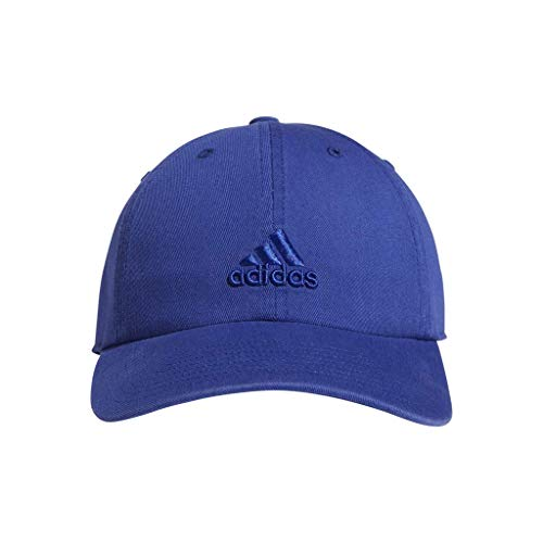 Adjustable Performance Visor - adidas Women's Saturday Relaxed Adjustable Cap, Active Blue, One Size