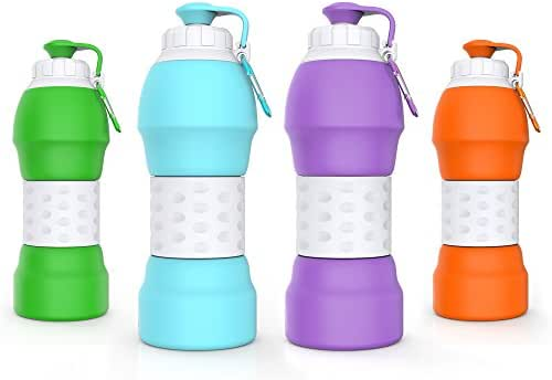 GITKARL Collapsible Water Bottle, Travel Accessories,Lightweight Silicone Travel Mug,[BPA Free] [FDA Approved]