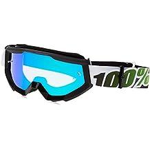 100% unisex-adult Goggle (Black,Mirror Green,One Size) (STRATA MX STortoiseA Black/Green Mirror Lens)