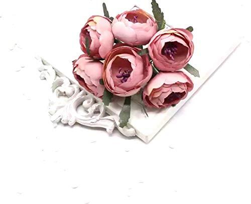 6pcs/Lot Artificial Silk Flower Peony Flowers Wedding Bouquet Wedding