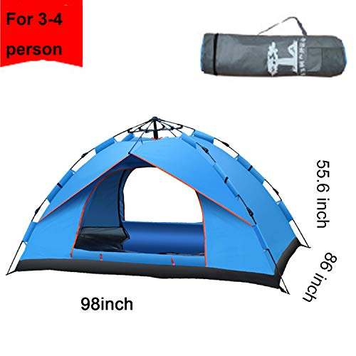 Campingtens Automatic Single Layer 3-4 Persons Windproof Large Family Camping Tent for Outdoor