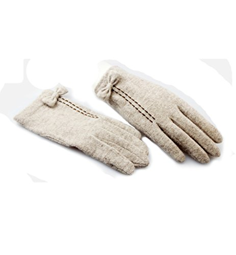 Winter-Driving-Full-finger-Cute-Bow-knot-Decorative-Gloves