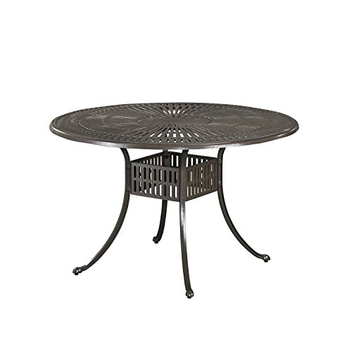 Home Styles 5561-32 Largo Outdoor Round Dining Table, 48