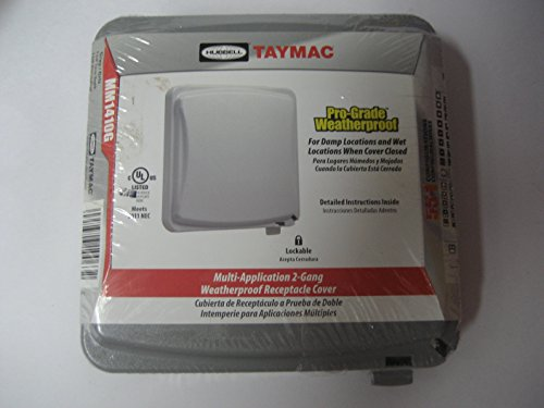 092326100632 - Hubbell Taymac Mm1410g 2-Gang Weatherproof Cover carousel main 0