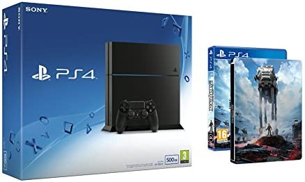 PlayStation 4 - Consola 500GB (Nuevo Chasis) y Star Wars: Battlefront Steelbook: Amazon.es: Videojuegos