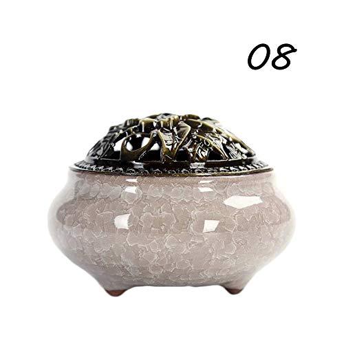 (WXLAA Antique Ice Cracks Copper Porcelain Aromatherapy Diffuser Incenseburner)