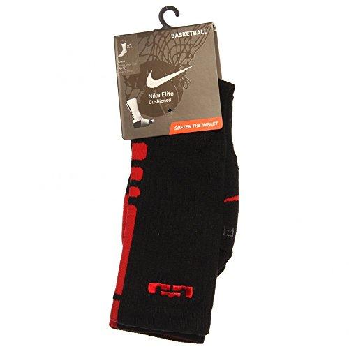 d9ed5c6be557 Nike The Lebron Elite Basketball Crew Socks White Red In Black Sport Red