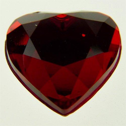 - Firefly Imports Flat Back Heart Rhinestone Embellishments, 14mm, Red, 40-Pack