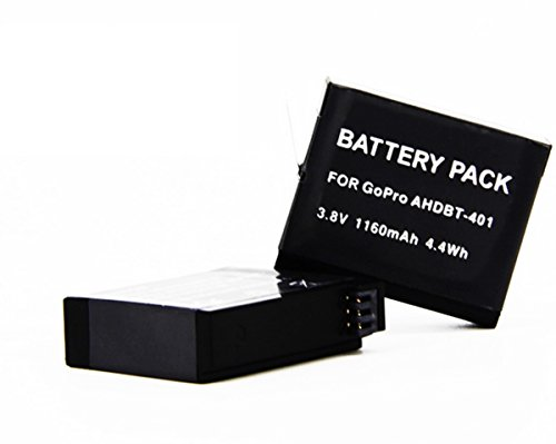 LCtech (TM) AHDBT-401 Decoded Li-ion Rechargeable Battery Pack For GoPro Hero 4 HD Camera Charging Camera Mount Replacement