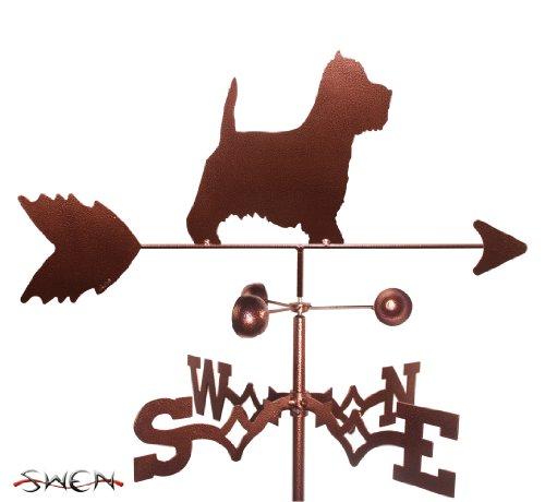SWEN Products Hand Made Westie Terrier Dog Garden Stake Weathervane ~New~ ()