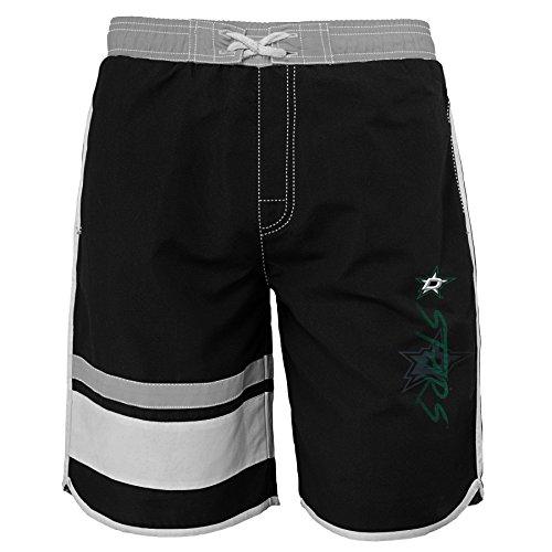 Star Trunk - OuterStuff NHL Dallas Stars Youth Boys 8-20 Swim Trunk, X-Large (18), Black