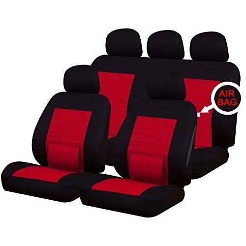 UKB4C Red Full Set Front & Rear Car Seat Covers for Citigo
