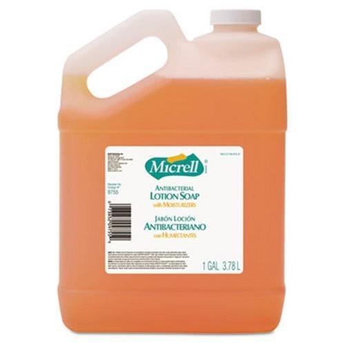 Bottle Jo Soap - GOJO 975504CT Antibacterial Lotion Soap, Light Scent, 1gal Bottle, 4/Carton