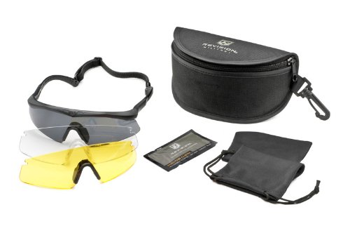 Revision Military Sawfly High-Impact Polarized Deluxe, Regular - Black by Revision Military