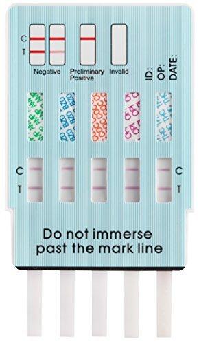 Home Screening Kit - 2 Pack Easy@Home 10 Panel Instant Drug Test Kits - Testing Marijuana (THC), Opiate(OPI 2000), Cocaine(COC), AMP, BAR, BZO, MDMA, MET, MTD, PCP - Urine Dip Drug Testing -#EDOAP-3104