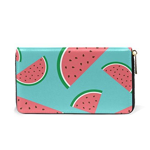 Organizer Wallet And Watermelon Fruit Red Clutch Around Womens Zip Purses TIZORAX Handbags 7pCwxYP