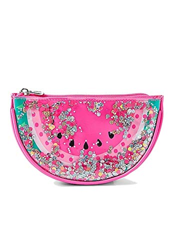 Justice Girls Cosmetic Bag (Watermelon Shaky Sequin)]()