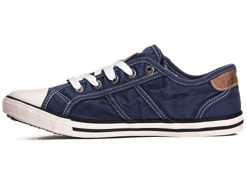 Mustang Shoes Damen Schuhe Sneaker jeansblau Jeansblau