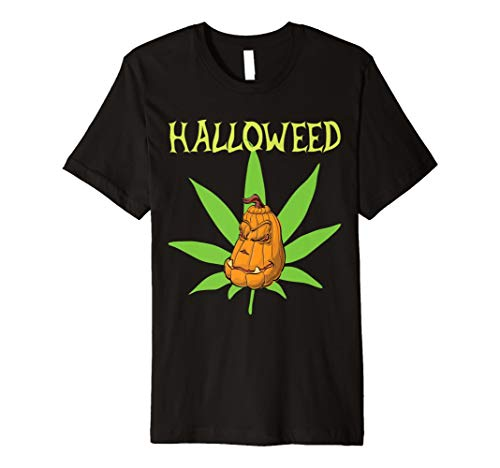 Halloweed Shirt Halloween Weed Costume Marijuana Leaf Gift