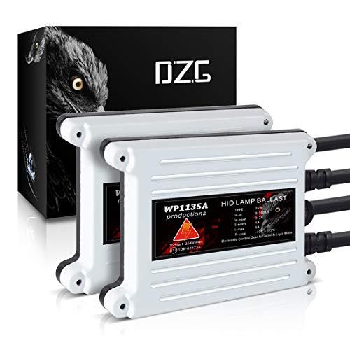(DZG HID Xenon Headlight Ballasts 35W Alternate Current AC Universal Fit, 2 Pack)