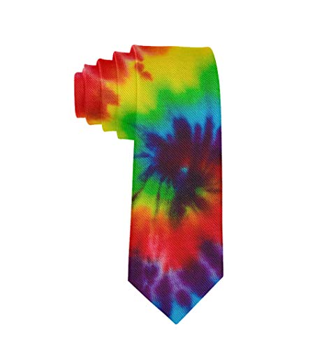 (Men Novelty Neckties Suit Accessories Tie Dye Print Tie for Weeding Prom Reception)