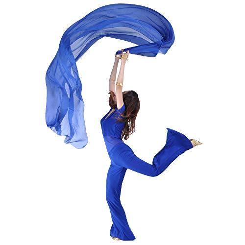 SHOWYOU 250x120cm 9 Colors 100% Chiffon Scarf Belly Dance Scarf Throwing Yarn Scarf Prop (Dark ()