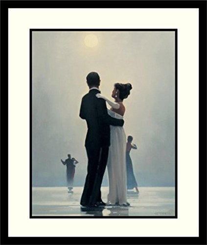 - Buyartforless Framed Dance Me to The End of Love by Jack Vettriano 31x27 Romantic Waltzers Art Print Romantic Dancing Under Moonlight Matted