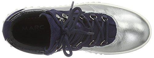 Marc Shoes Fabiola, Baskets Basses Femme Argenté (Steel-combi 00145)
