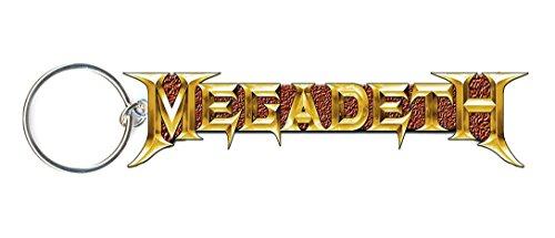 megadeth gold logo Keychain