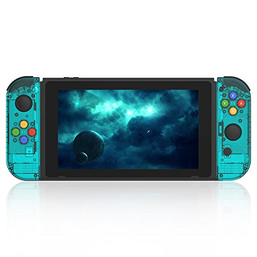 BASSTOP [Update Version] NS Joycon Handheld Controller Housing DIY Replacement Shell Case for Nintendo Switch Joy-Con (L/R) Without Electronics (Joycon-ice Blue)