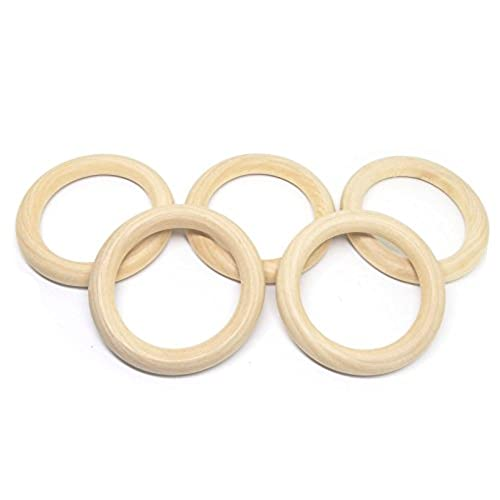 Wooden pendants amazon penta angel 70mm275 natural color unfinished wood teething rings diy art craft project wooden circle rings for pendant and connectors jewelry making aloadofball Gallery