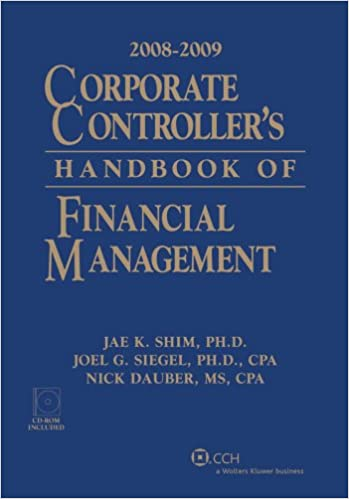 corporate controller s handbook of financial management 2008 2009