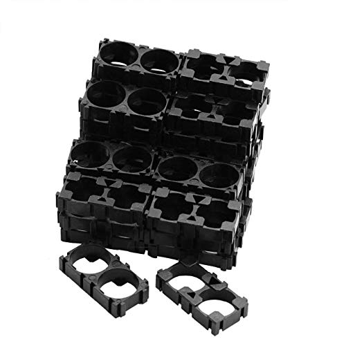 ZRM&E 50PCS 18650 Lithium Battery Double Holder Bracket 2 Cell DIY Battery Storage Box Protection Board