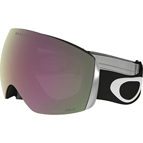 Oakley Men's Flight Deck Snow Goggles, Matte Black, Prizm Hi Pink, - Pink Iridium Oakley