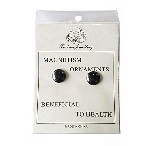 Gracefulvara 2 Pairs Weight Loss Earrings Healthy Stimulating Acupoints Stud Magnetic ()