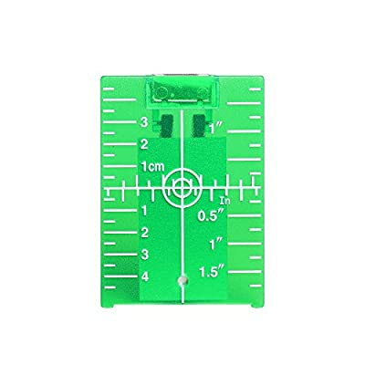 Huepar Green Magnetic Floor Target Plate with Stand for Levelsure 360 Self-Leveling Laser Level