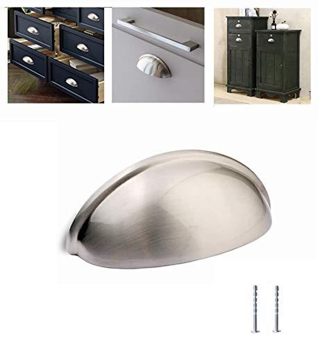 Kullavik 10-Pack Satin Nickel Mordern Cabinet Hardware 3-11/16