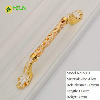 5003128mm 2Pcs golden Crystal Handle Aureate European Handle Hollow Out Chest Ambry Door of Drawer Cupboard Auger Round Single Hole Handle  (color  5003128mm)