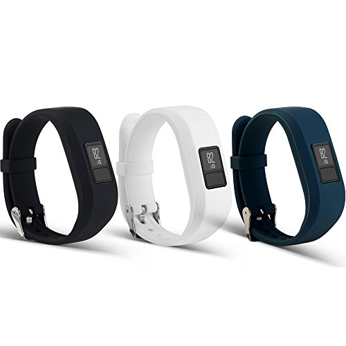 AUTRUN Band For Garmin Vivofit 3 and Garmin Vivofit JR,12 Color Styles Fitness Silicon Bracelet Strap Replacement Bands for Garmin Vivofit 3 and Vivofit JR(No Tracker (Style A:3Pcs,003)