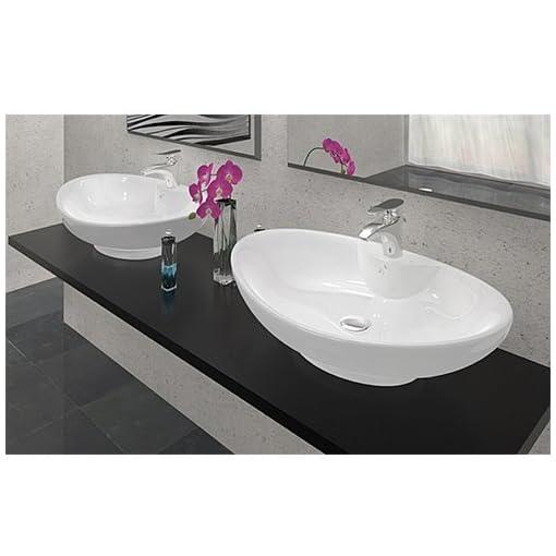 Ceramiche Arredo Bagno Moderno.Lavabo In Ceramica Arredo Bagno Rosa Lavandino D Appoggio