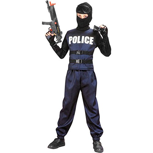 Child's Swat Team Costume, Size Youth Medium -