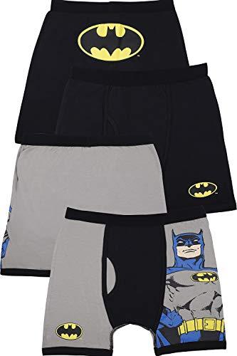 (DC Comics Boys 'Batman Superhero Justice League' Boxer Brief Underwear Pack, Multi, )