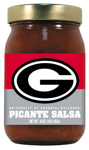 (4 Pack GEORGIA Bulldogs Picante Salsa Medium )
