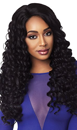 Outre Synthetic L-Part Lace Front Wig - HAWAIIAN (1B - OFF BLACK)